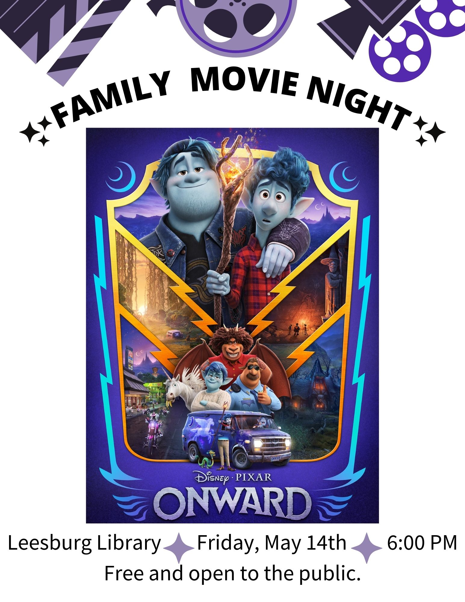 Family Movie Night ONWARD Poster1